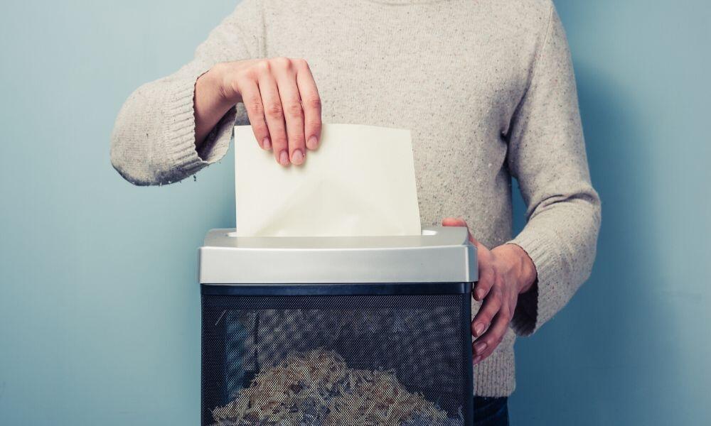 shredding document
